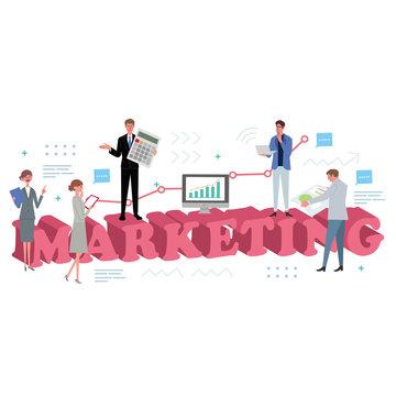 ビジネスコンセプト イラスト マーケティング