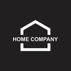 Home logo design vector template