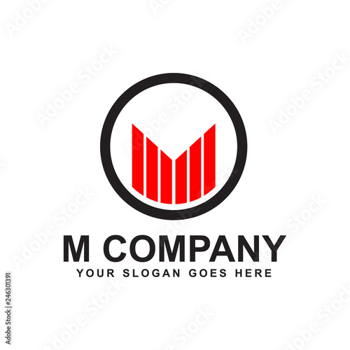 M Letter Logo Design Vector Template Stockfotos Und