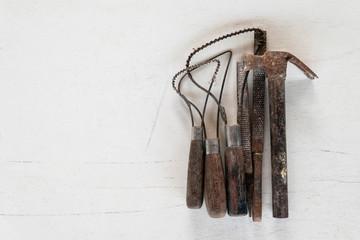 Sculpture tools set. Art and craft tools.