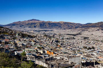 Partial view of Quito