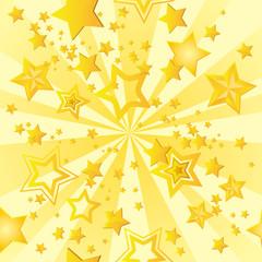 飛び出す星のパターン