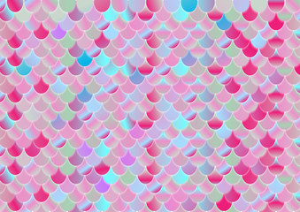 Colorful holographic foil scale abstract background