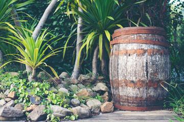 old Oak wood wine barrel