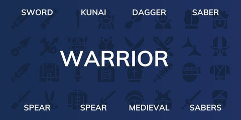 warrior icon set