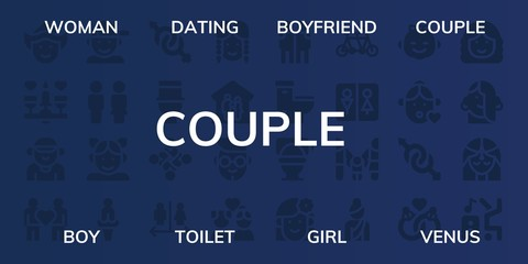 couple icon set