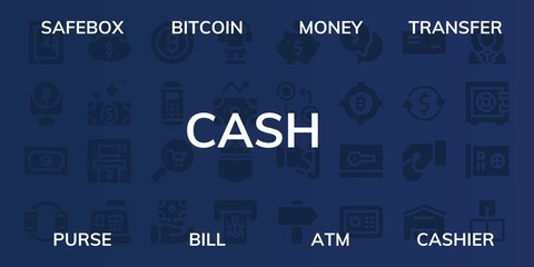 cash icon set