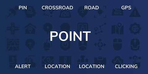 point icon set