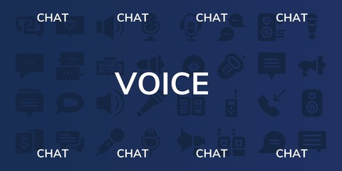 voice icon set