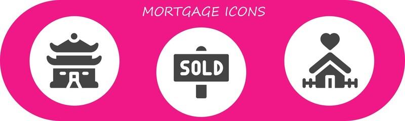 mortgage icon set