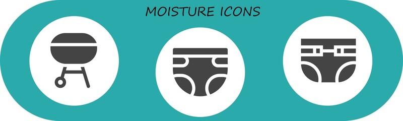 moisture icon set
