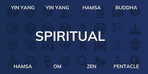 spiritual icon set