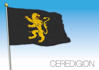 Ceredigion county flag, United Kingdom, vector illustration