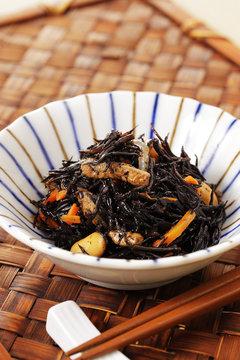 ひじきの煮物 Simmered Hijiki seaweed