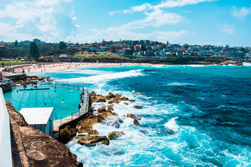 Bondi to Coogee walk in Sydney, New South Wales, Australia