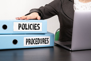 Policies and Procedures concept Wall mural