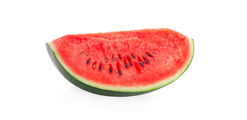 Sliced of watermelon isolated on white background