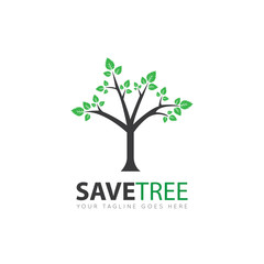 tree logo and icon vector illustration design template