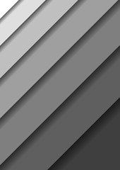 Paper cut banners with 3D abstract background with gray monochrome layers  sheets one over the other diagonally shadows.  Papercut layout for banner, poster, greeting card. Vector illustration.