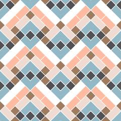 Geometric retro wallpaper. Seamless background. Fashion textile print.