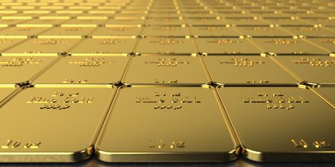 Fototapete - Golden Bars 10 Oz Fine Gold