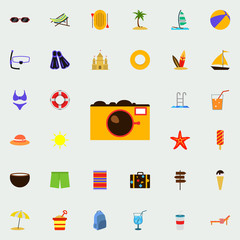 camera flat icon. colored Summer icons universal set for web and mobile