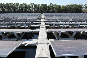 Walkway of Floating Solar PV System