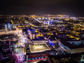Fototapeta Kielce nocą panorama miasta obraz