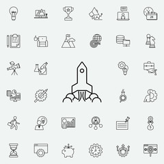 rocket icon. Startup icons universal set for web and mobile