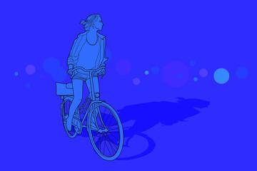 Mujer conduciendo una bicicleta