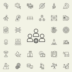 staff management mechanism icon. Startup icons universal set for web and mobile