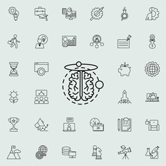 poles of the brain icon. Startup icons universal set for web and mobile