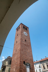 Municipal tower of Crescentino, Piedmont, Italy