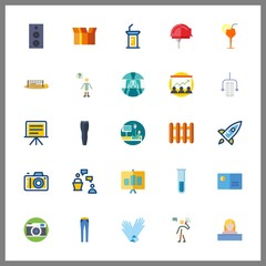 25 professional icon. Vector illustration professional set. laboratory and swimmer icons for professional works