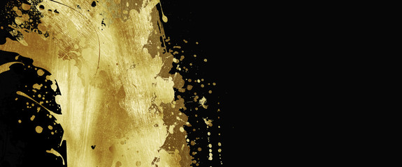 Sale, promo banners, golden design on a dark background, hot sale, discounts. Banner, card, copy space. Mockup, layout. Creative background, horizontal flyer for printing.