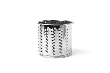 The grater attachment for grinder isolated on white background