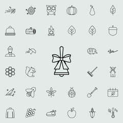bell icon. autumn icons universal set for web and mobile