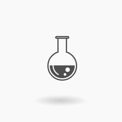 Test Tube Beeker Flask Vector Icon Illustration Symbol