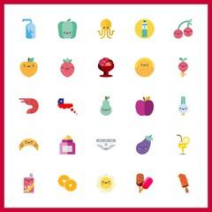 25 freshness icon. Vector illustration freshness set. egg and octopus icons for freshness works