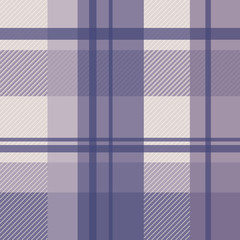winter plaid in violet and cream seamless pattern