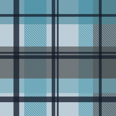 winter plaid icy gingham seamless pattern