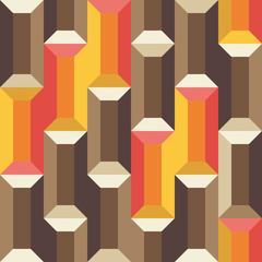 tiger eye and ruby gemstones seamless pattern