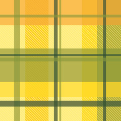 early summer plaid in apricot and lemon seamless pattern
