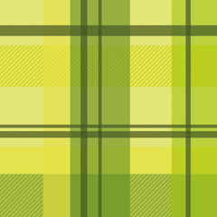 early summer plaid in fresh green and lime seamless pattern