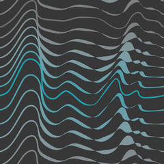abstract waves on anthracite seamless pattern