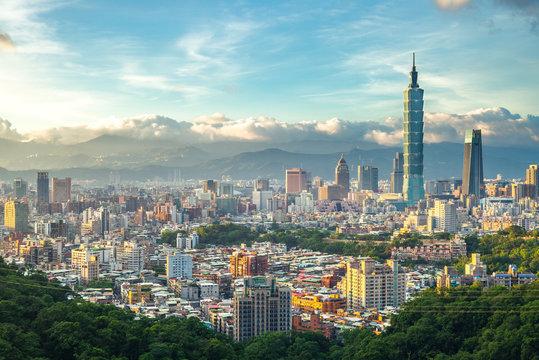 Panoramic view of Taipei City, taiwan