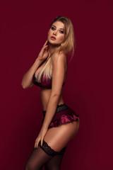 Fototapeta Sexy woman posing in lingerie. obraz