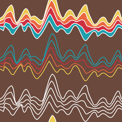 seamless rainbow waves pattern