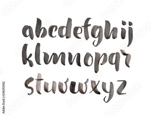 Vector Brush Style Hand Drawn Alphabet watercolor Font  Calligraphy