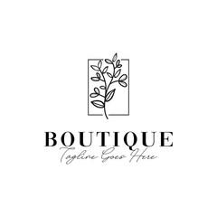 Boutique Flower Logo Design Inspiration